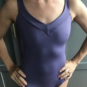 Purple Natalie  tank leotard.